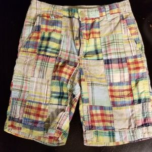 Boys Gap patchwork shorts.